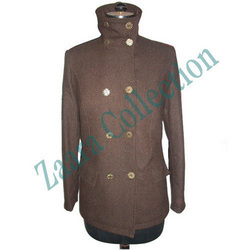 Ladies Coat with High Coller