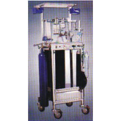 Anesthesia Apparatus With Stainless Steel Trolley
