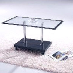Glass Center Table with Black Border