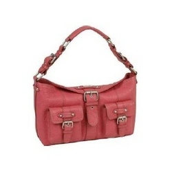 Dark Pink Leather Ladies Handbag