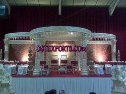 Wedding Lighted Pearl Crystal Mandap