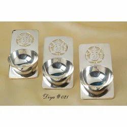 Silver Ganesha Diya