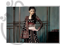 Black Design Lehnga