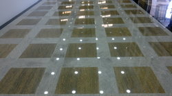White And Gold Mix Flooring