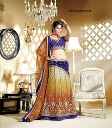 Chic Apricot & Gold Color Lehenga Choli