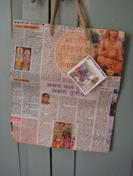 News Paper Bags With Jute Handles
