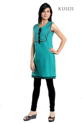 Outstanding Green Embroidered Kurtis