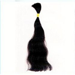 Remy Double Drawn Bulk Human Hair ( Natural Black Hair )