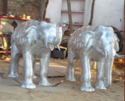 elephant sculpture in aluminum