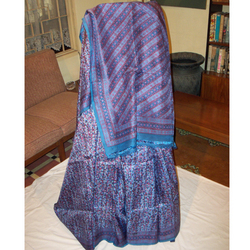 Silk Saree Hand Block Printed