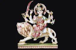 Marble Statue Of Devi Durga Mata