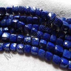 Lapis Lazuli Faceted Cubes