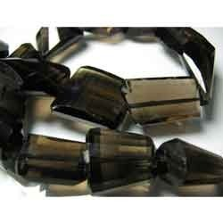 Step Cut Faceted Smoky Quartz Faceted Nuggets