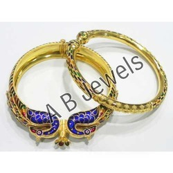 Meenakari Bangles - Gold