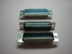 DB 25 Pin Male Metal D Type Connector