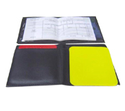 Referee Wallet with Data Pad and Set of Cards