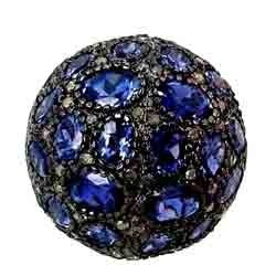 iolite gemstone ball beads finding