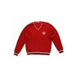 Red Sweatshirt with Sporty Patch SWN-08031