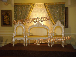 Asian Wedding Pearl Gold Furniture Set