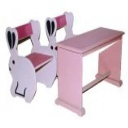 Rabbit Pattern Cartoon Desk