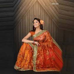 Embroidered Organde Sarees