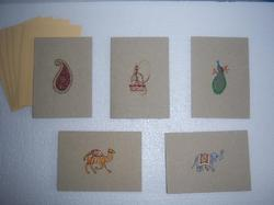 Indian Design Printed Cards