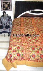 Embroidered Thread Work Bedspread