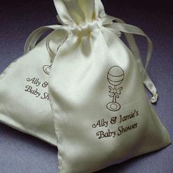Satin Favor Bags For Weddings With Custom Prints
