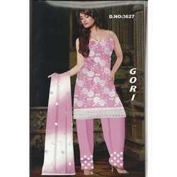 Gouri Embroidered Cotton Dress Material