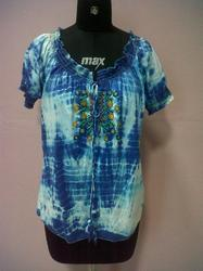 Tie Dye Embroidered Top