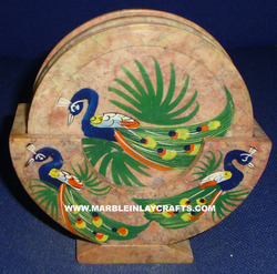 Inlaid Coaster Set