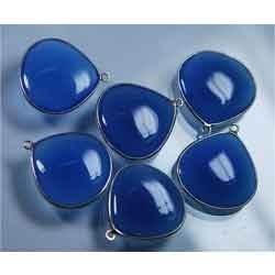 Blue Chalcedony Smooth Polished Heart Briolettes