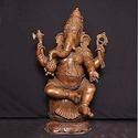 Bronze Sitting Ganesh