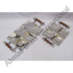 Wooden Handle Aluminium Tray