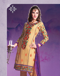 designer embroidered dress material