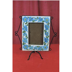 Blue Pottery Photo Frame