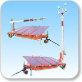 Solar Lighting on Mobile Lighting Mast Towers