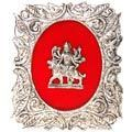maa durga - white metal god frame
