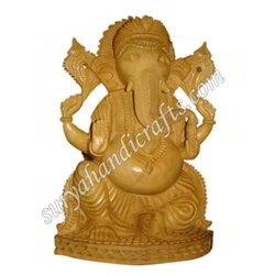Wooden Carving Ganesha