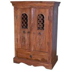 1 Long Drawer Iron Mesh Door Cabinet