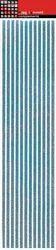 Stripes Turquoise Glitter