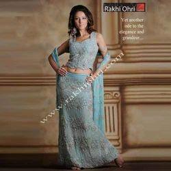 Blue Embroidery Designer Lehenga