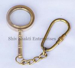 Nautical Magnifying Key Chain