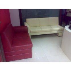Red & White Sofa Set