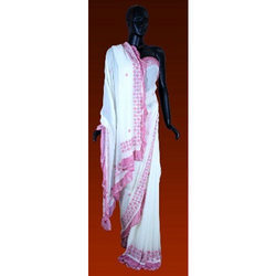 Georgette Saree With Stone Tiki Work