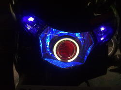 Headlight With Devil Projector Lens