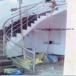 Iron Rod Stair Case
