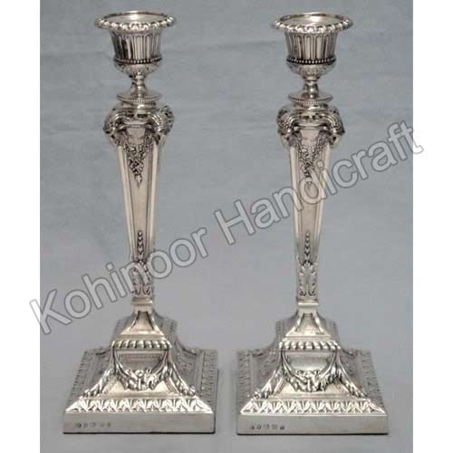 sc 1 st  Kohinoor Handicrafts Moradabad : silver plate candle holders - pezcame.com