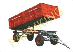 hydraulic tipping trailer double axle 4 wheels