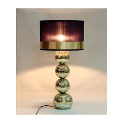 Wooden Mosac Table Lamp